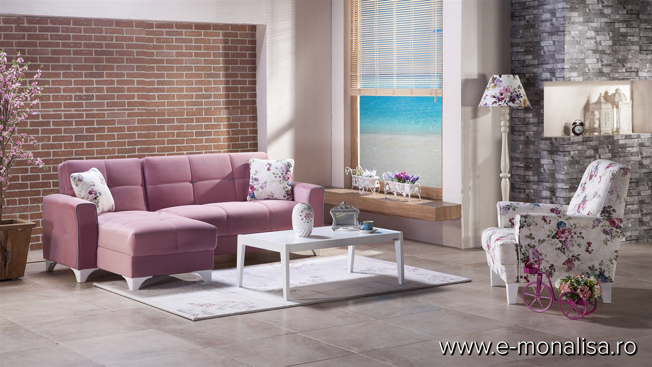 Coltar extensibil lounge Lila Roz Tina