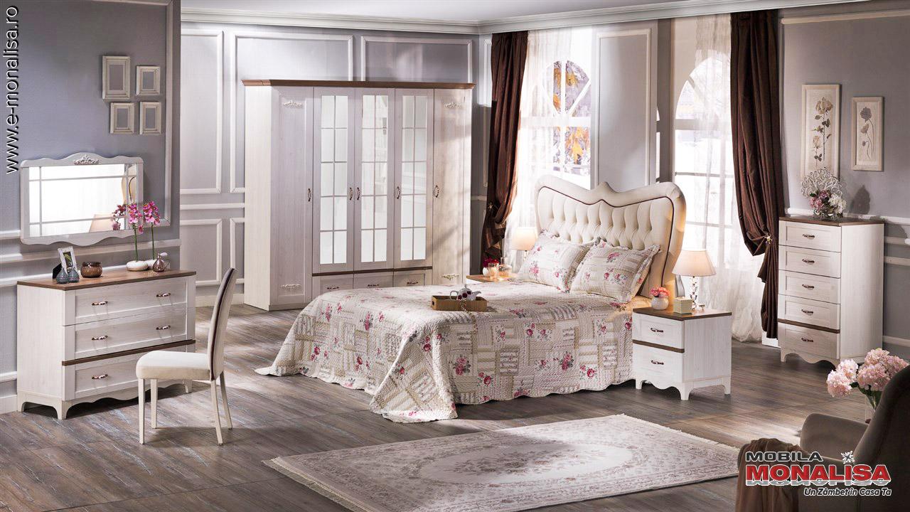 Dormitoare clasice moderne albe preturi Bucuresti