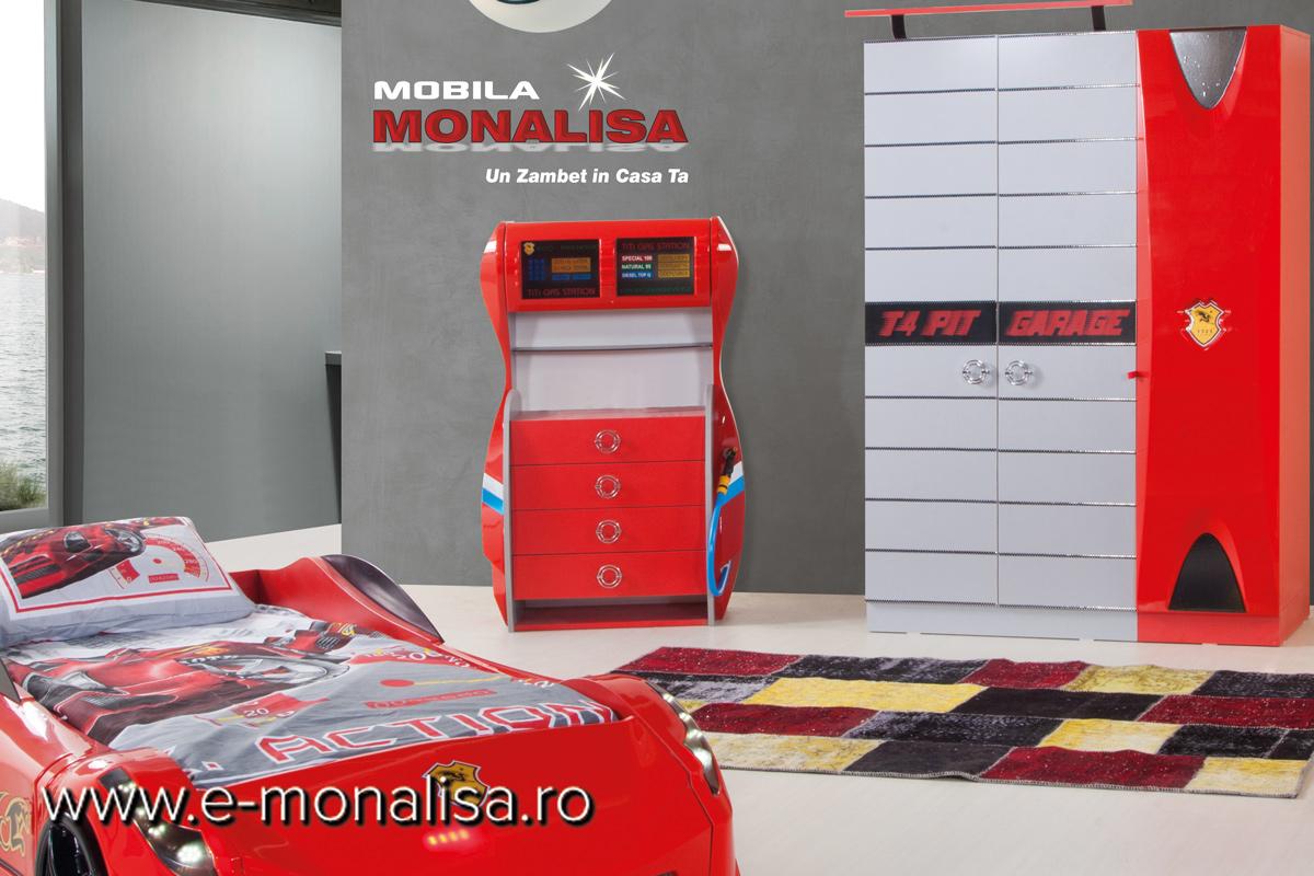 Comoda pt Dormitor Copii Formula 1 Rosu