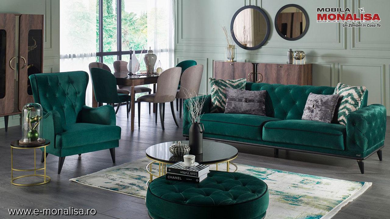 Covor verde de calitate lux platinum-9901