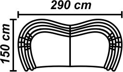 Canapea 4 locuri 2 sezlonguri