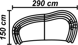 Canapea 4 locuri sezlong stanga sau dreapta