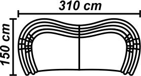 Canapea 5 locuri cu doua sezlonguri
