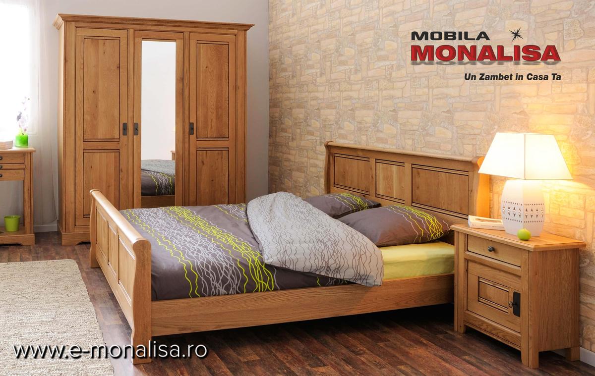 Mobila Dormitor din Stejar Masiv