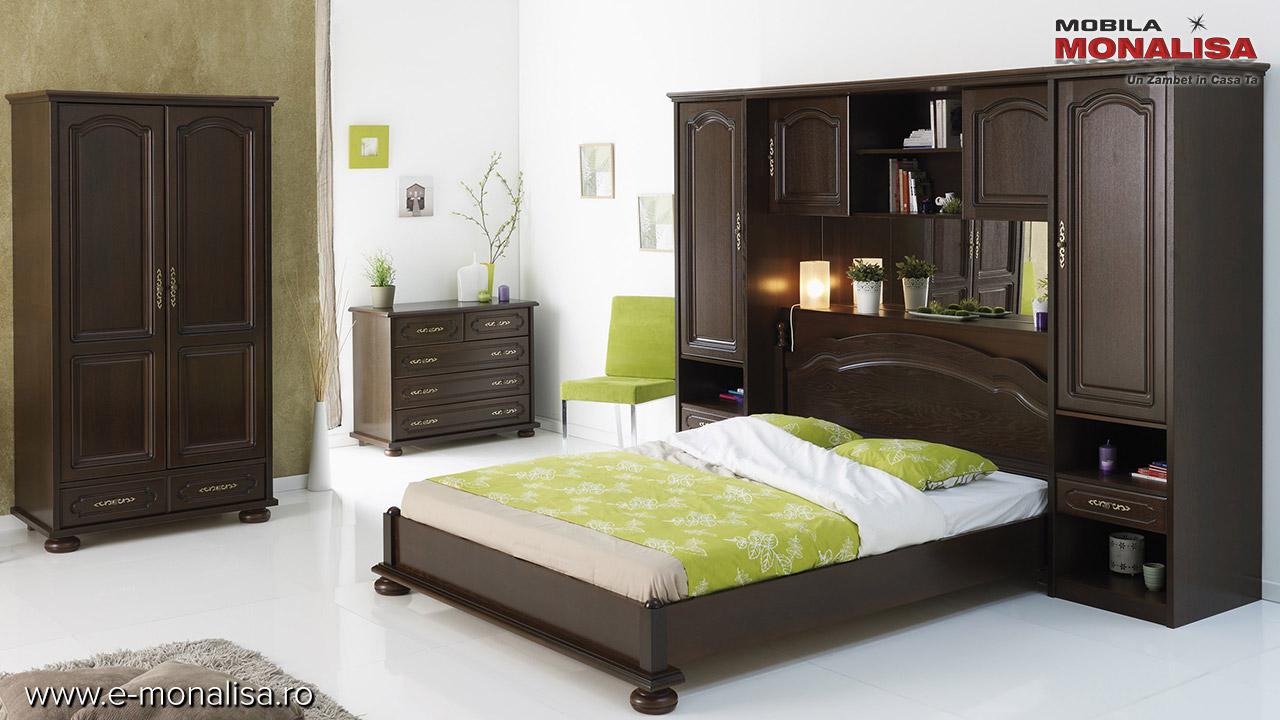 Dormitor Berry lemn masiv si mdf pe stil clasic pt copii tineret