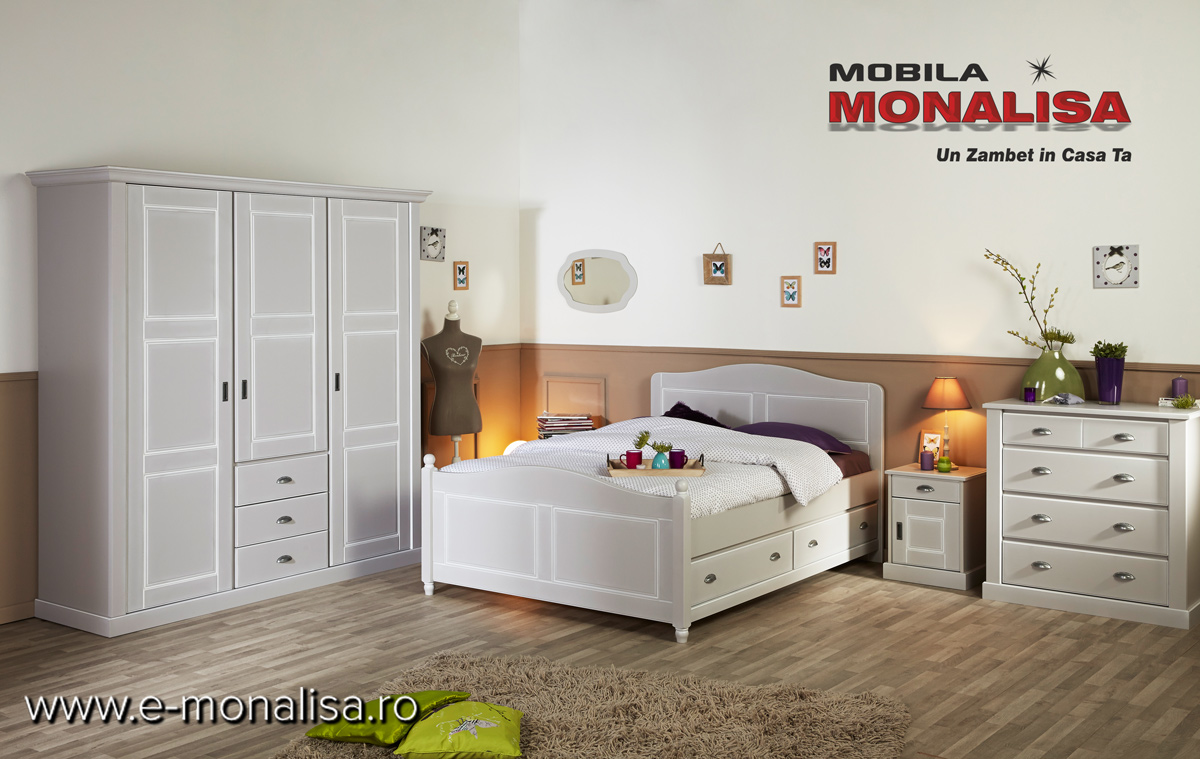 Mobila Dormitor Stil Clasic Lemn Masiv
