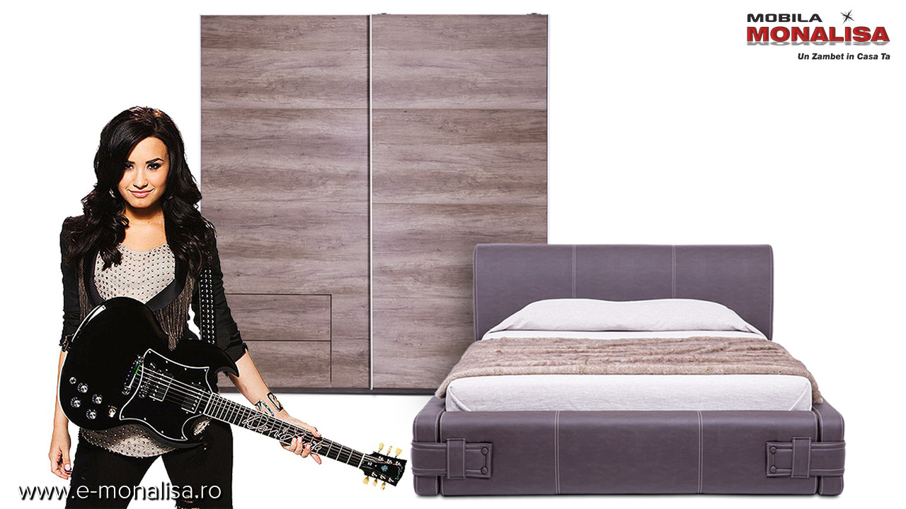 Mobila de dormitor amenajare pe stil Rock