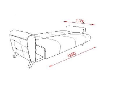 canapea pat 3 locuri cu lada