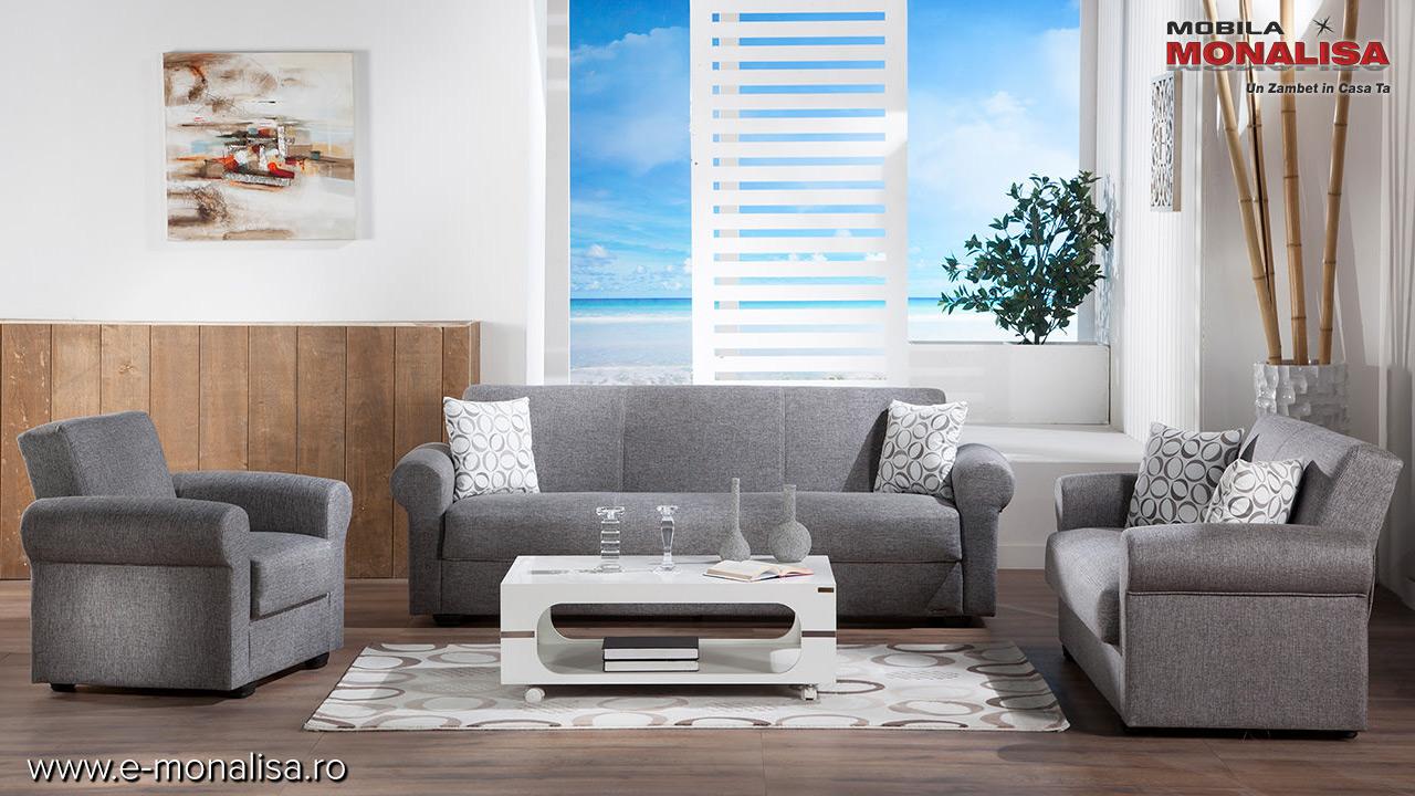 Canapele si cu fotolii ieftine gri ieftine oferta de preturi