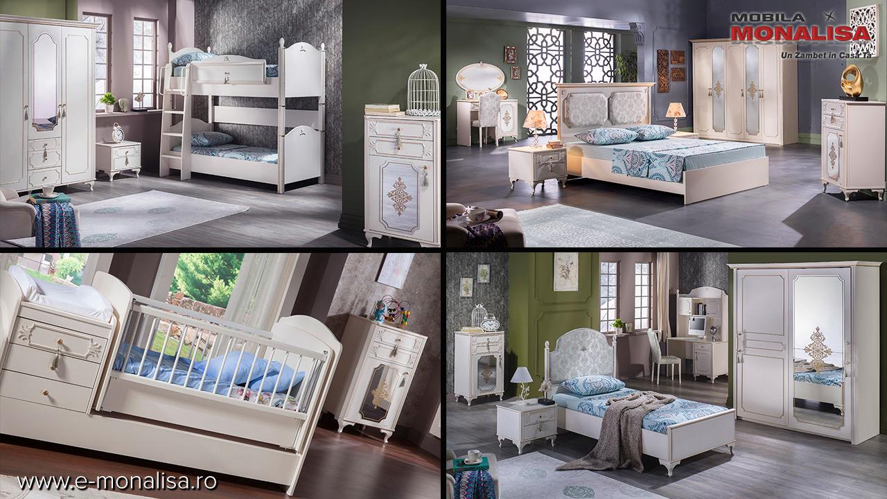 Mobila dormitor tineret copii stil clasic de lux modele deosebite