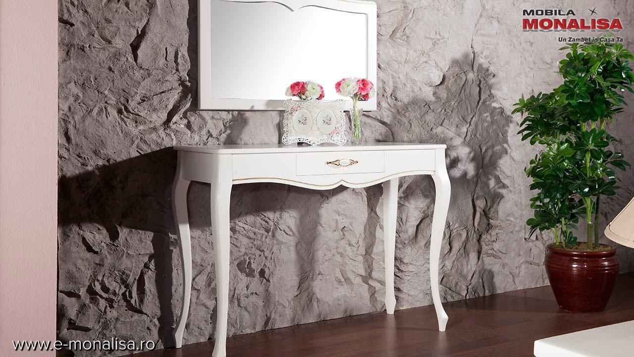 Masa toaleta machiaj stil clasic de lux Golden