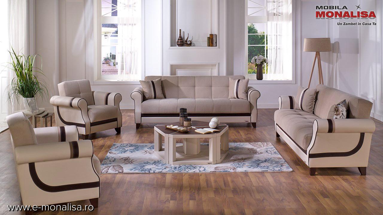Canapele cu fotolii extensibile turcesti Bellona Istikbal