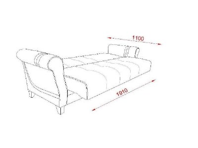 canapea extensibila 3 locuri cu lada