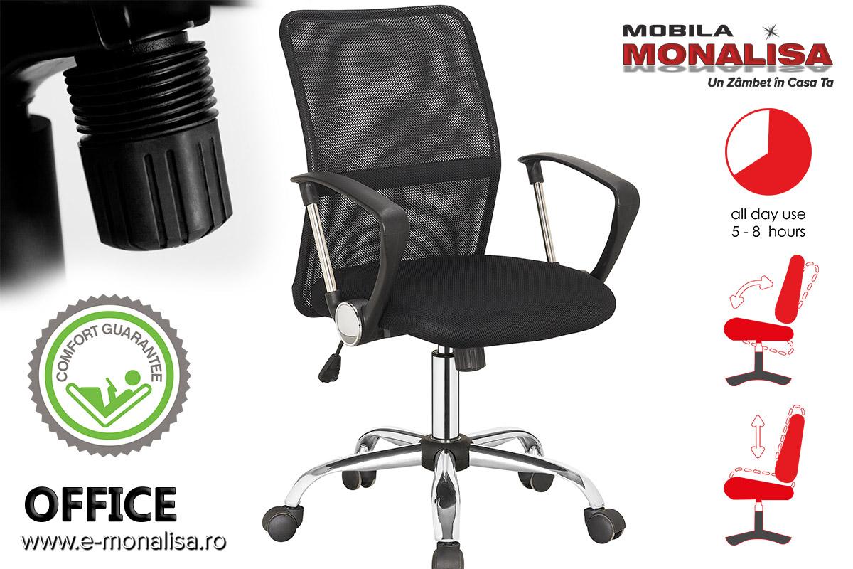 Scaune de birou mesh negru moderne cu suport lombar Office