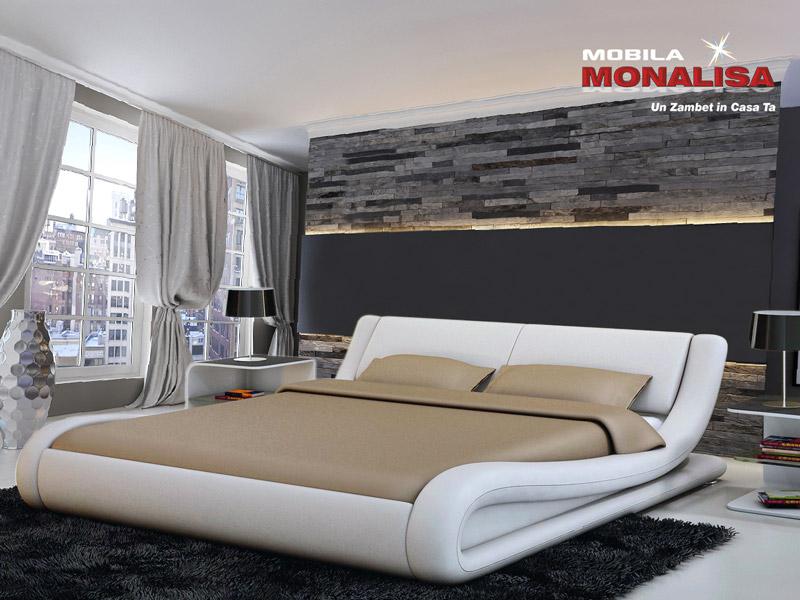 Pat din Piele Dormitor | Paturi de dormitor din piele Pret Import