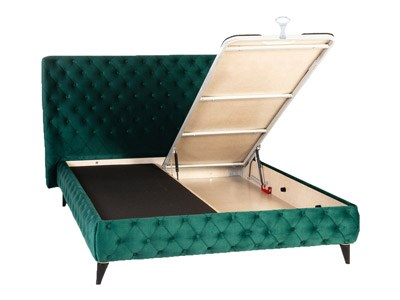 Baza de pat model chesterfield verde