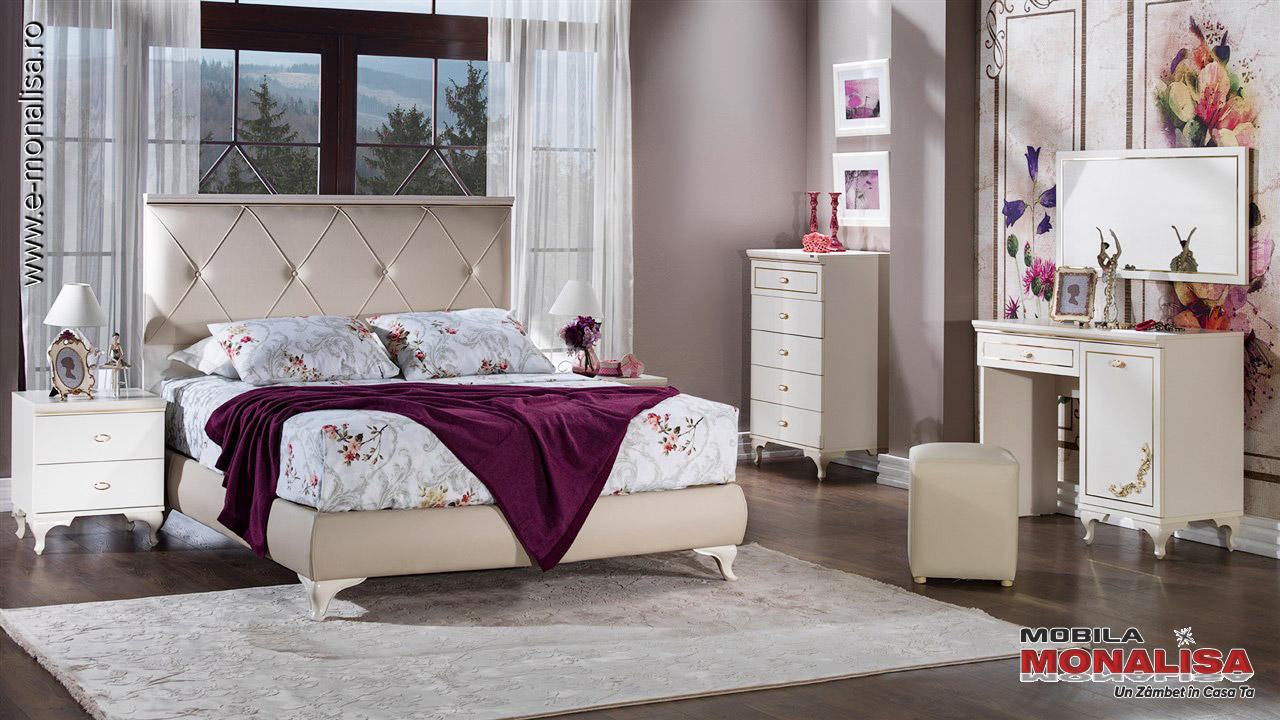 Dormitoare complete albe de lux Astoria