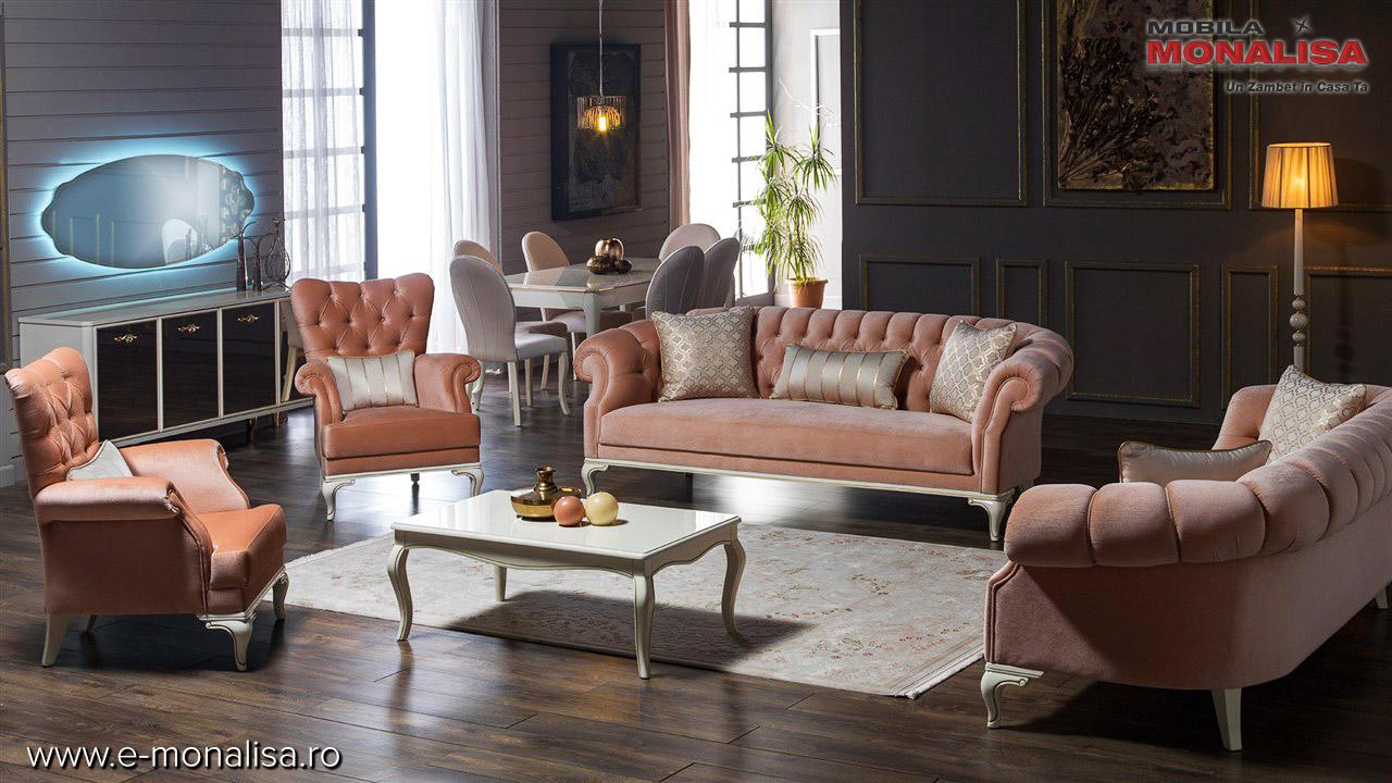 Canapele si fotolii clasice de lux lemn masiv