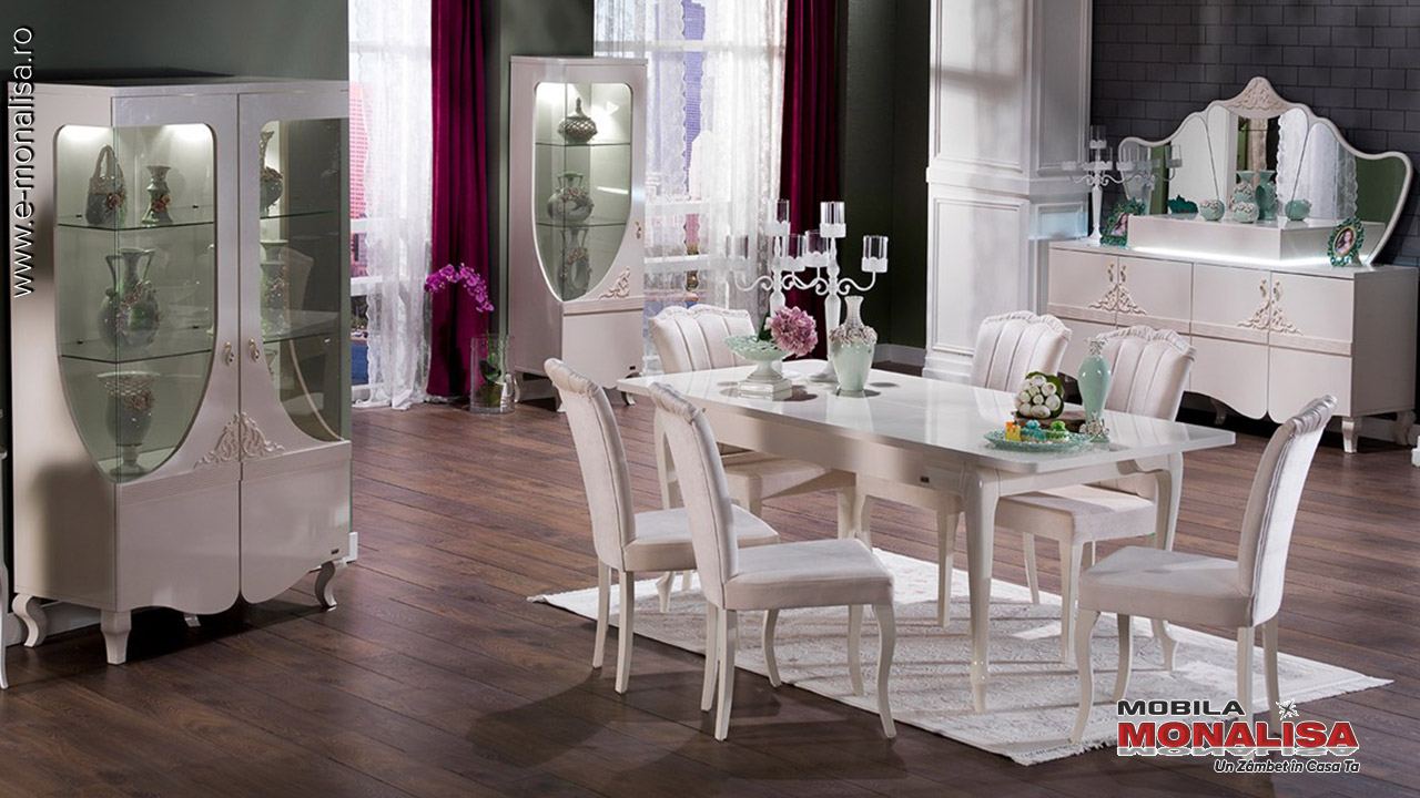 Amenajare living Sufragerie pe stil Clasic de lux