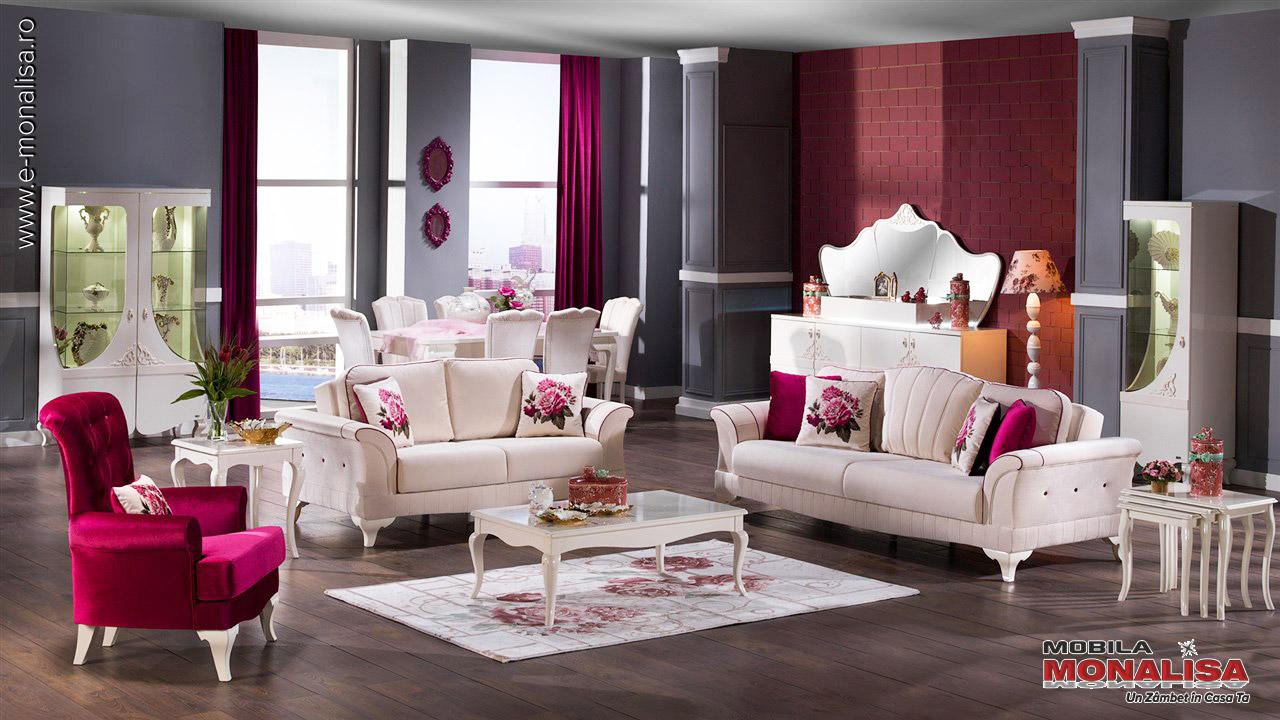 Amenajare sufragerie moderna alba de lux Eleganta