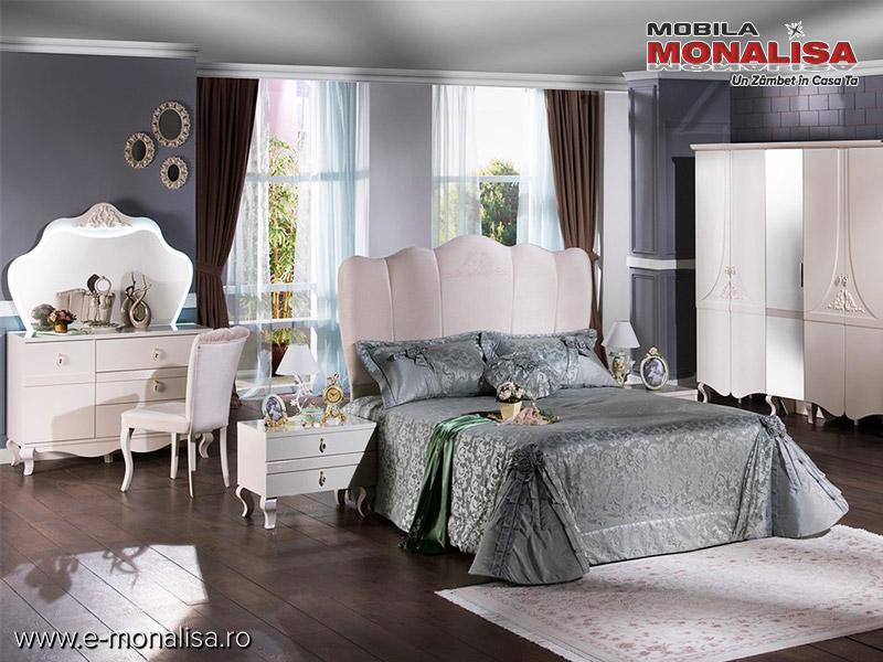 Modele De Dormitoare Moderne.Dormitor Alb Lucios Modern Elegance Mobila Dormitoare Moderne Lux