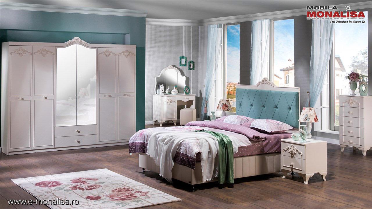 Mobila dormitor alb ieftina
