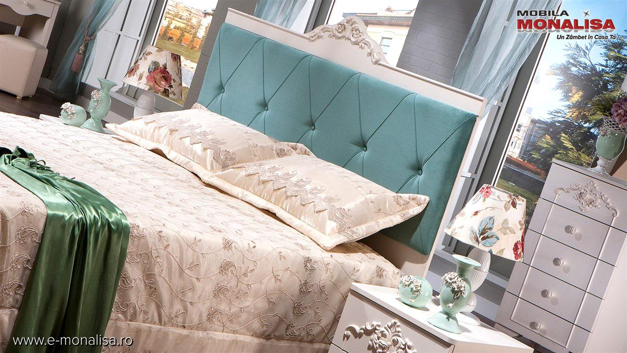 mobila alba dormitor elegant