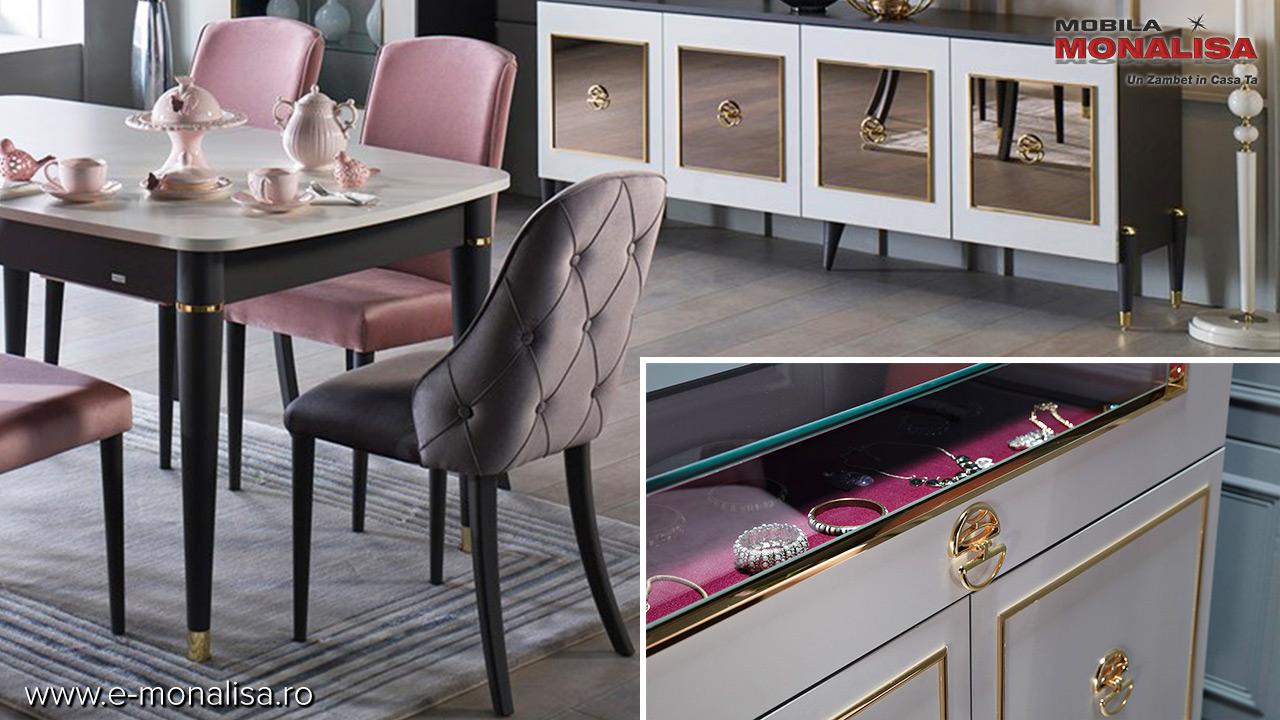 Mobila living sufragerie dormitor la fel - Concept Prada de lux