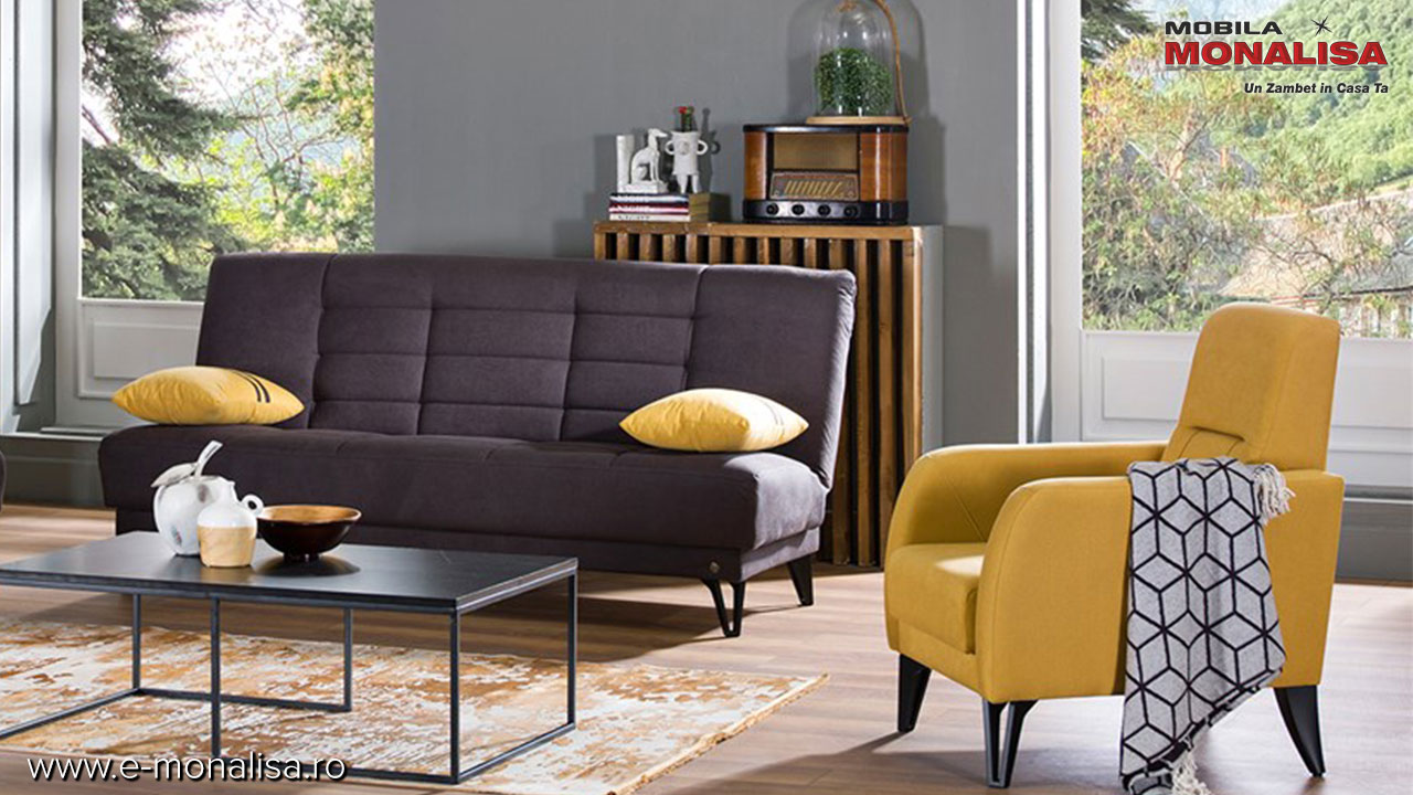 canapea si fotoliu ieftine stil modern Vega