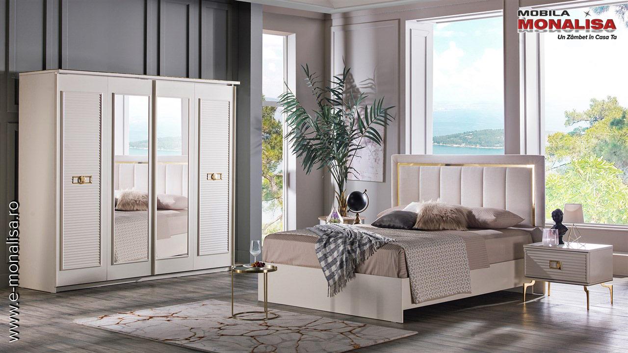 mobila dormitor alba de lux veyron original