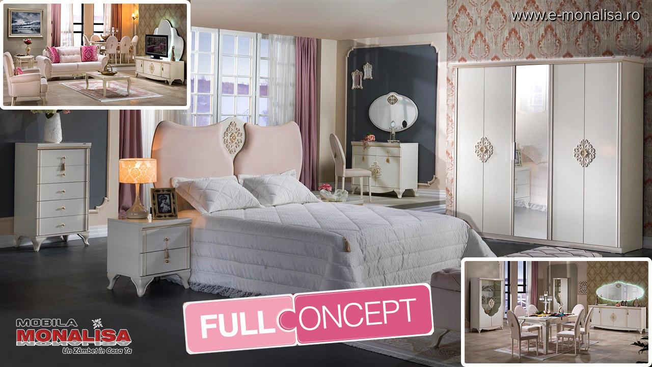 Mobila dormitor alb de vis